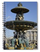 Public Fountain At The Place De La Concorde In Paris France Spiral Notebook