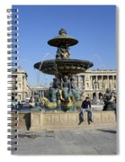 Public Fountain At The Place De La Concorde Spiral Notebook