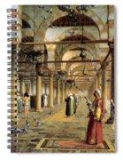 Public Prayer In The Mosque  Spiral Notebook