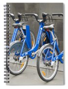 Public Shared Bicycles In Melbourne Australia Spiral Notebook