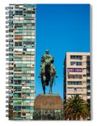 Public Statue Of General Artigas In Montevideo Spiral Notebook