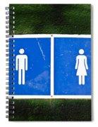 Public Toilet Sign Spiral Notebook
