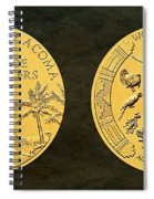 Pueblo Of Acoma Tribe Code Talkers Bronze Medal Art Spiral Notebook