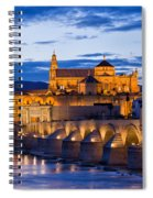 Puente Romano And Mezquita At Twilight In Cordoba Spiral Notebook