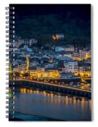 Puentedeume View From Cabanas Galicia Spain Spiral Notebook