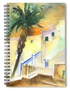 Puerto Carmen Sunset In Lanzarote 03 Spiral Notebook