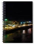 Puerto De La Cruz By Night Spiral Notebook