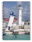 Puerto Morelos Lighthouse Spiral Notebook