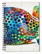 Puffer Fish Art - Puff Love - By Sharon Cummings Spiral Notebook
