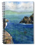 Puffin At Skellig Island Ireland Spiral Notebook