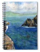 Puffin At Skellig Island Ireland Spiral Notebook