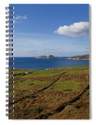 Puffin Island From The Skelligs Ring Spiral Notebook