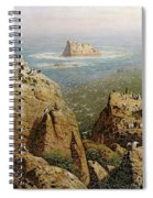 Puffins On Lundy Island Oil On Canvas Spiral Notebook