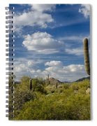 Puffy White Clouds  Spiral Notebook