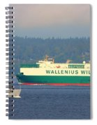 Puget Sound Shipping Waterway Spiral Notebook