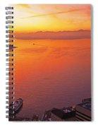 Puget Sound Sunset Spiral Notebook