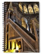 Pulpit In The Aya Sofia Museum In Istanbul  Spiral Notebook