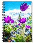 Pulsatilla Vulgaris Flowers Spiral Notebook