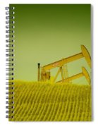 Pumpjacks In Farm Land Spiral Notebook