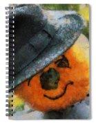 Pumpkin Face Photo Art 06 Spiral Notebook