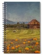 Pumpkin Field Moon Shack Spiral Notebook