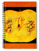 Pumpkin Half Spiral Notebook