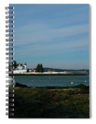 Pumpkin Island Light In Snow Spiral Notebook