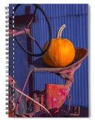 Pumpkin On Tractor Seat Spiral Notebook