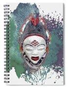Punu Mask - Maiden Spirit Mukudji Spiral Notebook