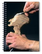 Puppet Being Carved From Wood Spiral Notebook