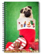 Puppy For Christmas Spiral Notebook