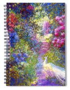 White Peacocks, Pure Bliss Spiral Notebook