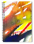 Pure Color Inspiration Abstract Painting Linea Forces Spiral Notebook