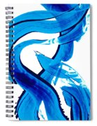 Pure Water 302 - Blue Abstract Art By Sharon Cummings Spiral Notebook