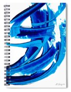 Pure Water 304 - Blue Abstract Art By Sharon Cummings Spiral Notebook