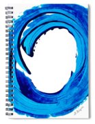 Pure Water 312 - Blue Abstract Art By Sharon Cummings Spiral Notebook
