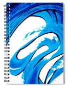 Pure Water 315 - Blue Abstract Art By Sharon Cummings Spiral Notebook