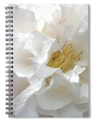 Pure White Spiral Notebook
