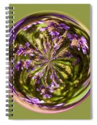 Purpble Wildflower Orb Spiral Notebook