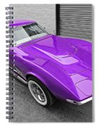 Purple 1968 Corvette C3 From Above Spiral Notebook