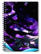Purple Abstract Spiral Notebook