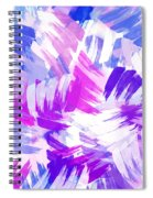 Purple Abstract Paint Pattern Spiral Notebook