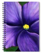 Purple African Violet Spiral Notebook