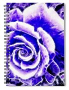 Purple And Blue Rose Expressive Brushstrokes Spiral Notebook