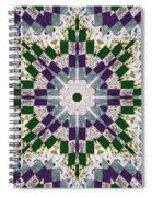 Purple And Green Patchwork Art Spiral Notebook