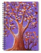 Purple And Orange Spiral Notebook