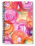 Purple And Orange Flowers Spiral Notebook