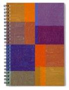 Purple And Orange Get Married Spiral Notebook