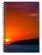 Purple And Orange Sunset Spiral Notebook
