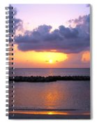 Purple And Pink Sunset Caribbean Dream Spiral Notebook